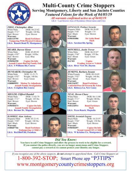 Featured Felons - 4/5/19